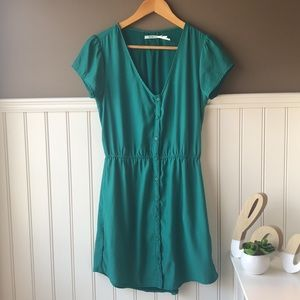 3 for $25 UO Kimchi Blue Button Down Green Dress